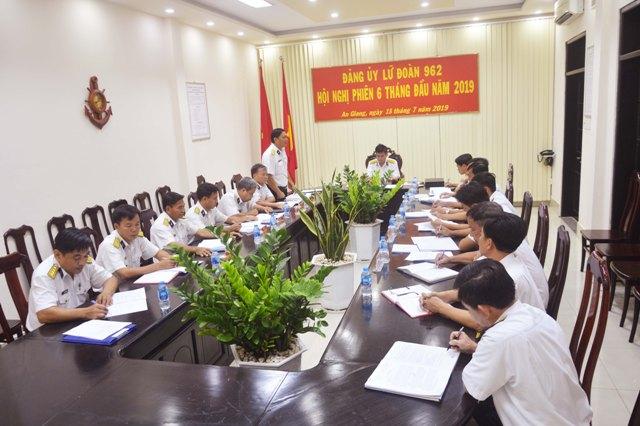 Đảng ủy Lữ đoàn 962 tổ chức Hội nghị phiên 6 tháng đầu năm